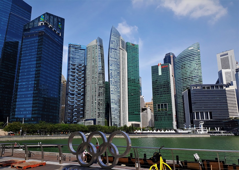 Jalanan pendek ke Singapore kota yang berkembang terus