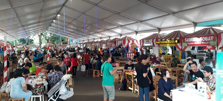 Jualan Ramai Makanan Traditional Ribuan pengunjung Jakarta Fair 2018