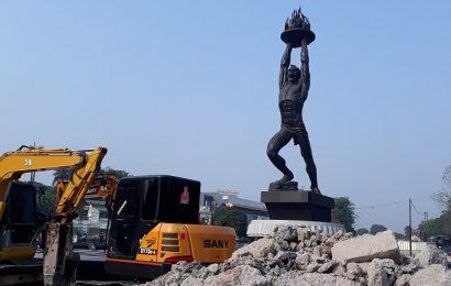 Jakarta melalui proses kecantikan untuk pembukaan Asian Games Augustus 2018