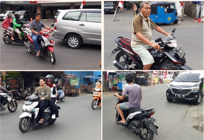 Jakarta street safety rules are simple, who would care for their children's life ???
