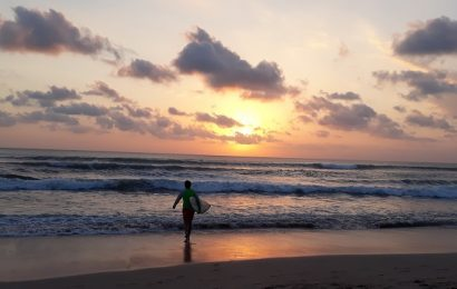 Kuta beach Bali busier than ever despite crazy traffic jam everywhere